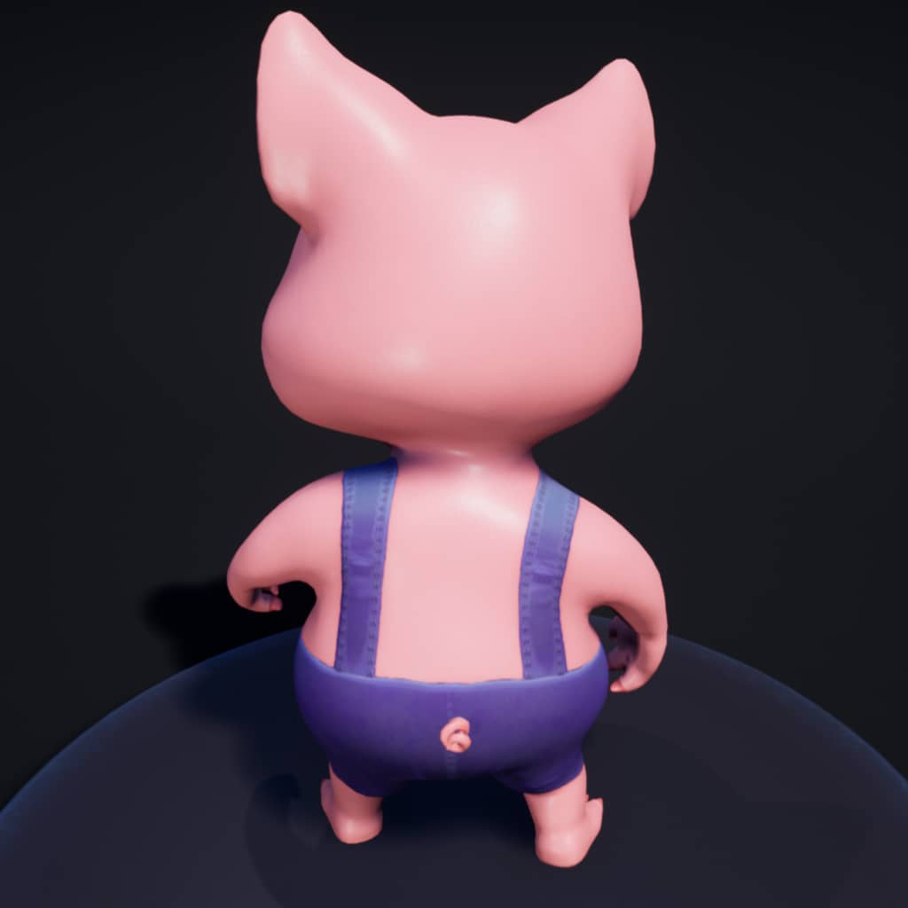 Pig Character - Game PigNapping