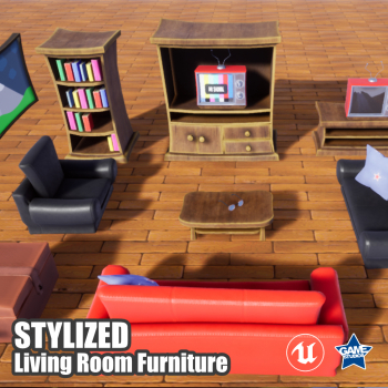 Stylized Living Room Pack for UE4