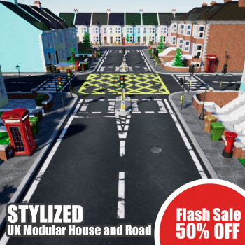 The February Sale is here! Save 50% on Stylized UK Modular House and Road now through February 19.