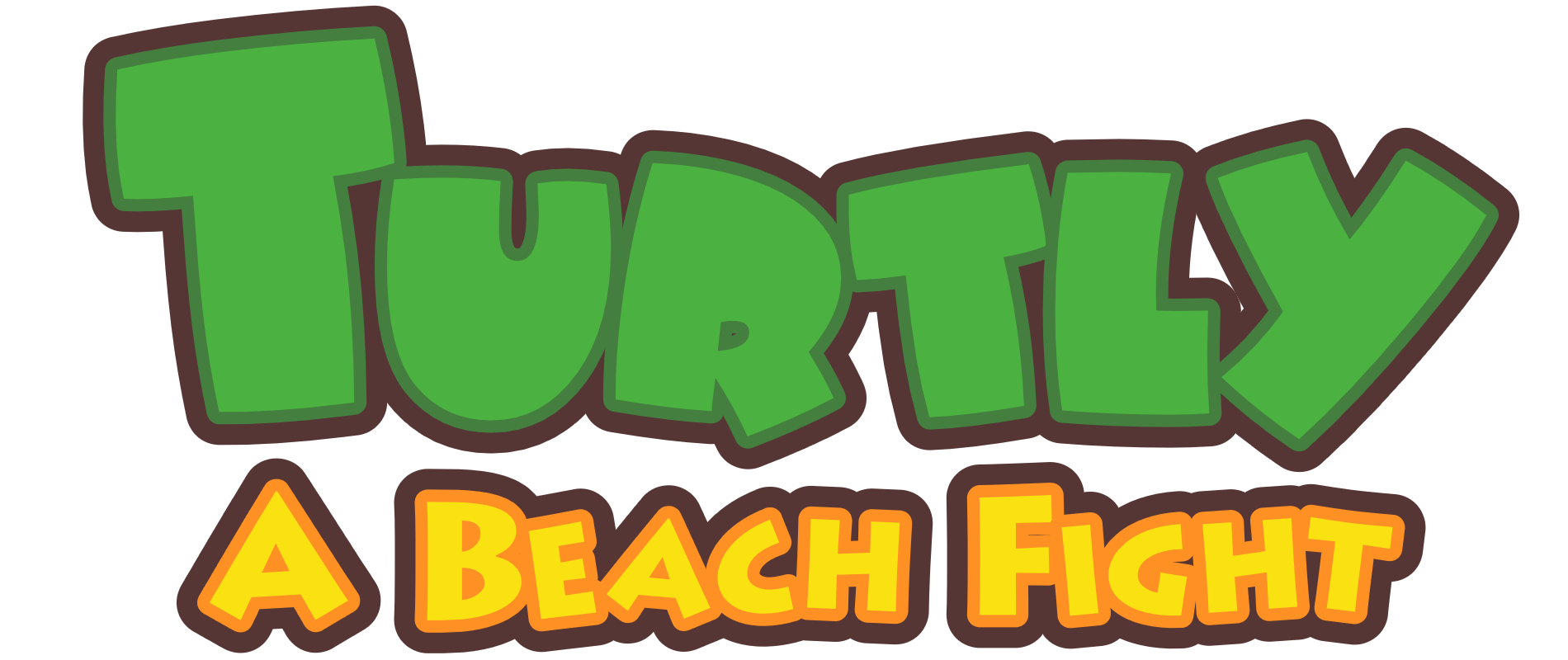 Logo - Turtly - A Beach Fight - Indie Game