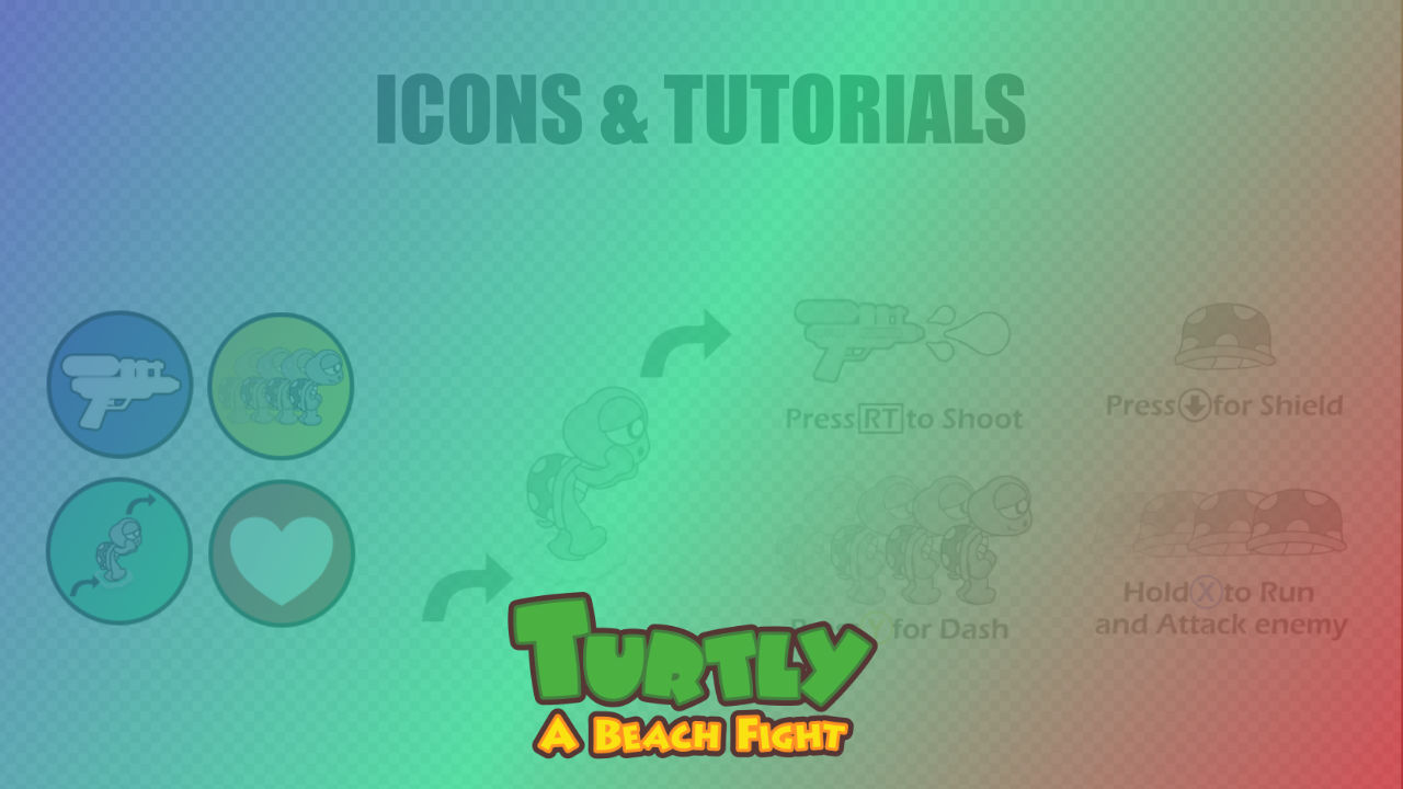 2d Icons and Tutorials - Turtly - A Beach Fight