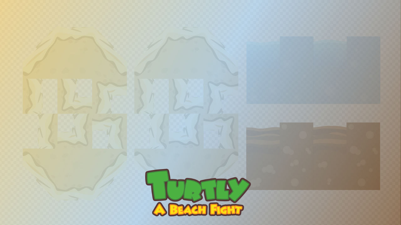 2d Tile Set - Turtly - A Beach Fight